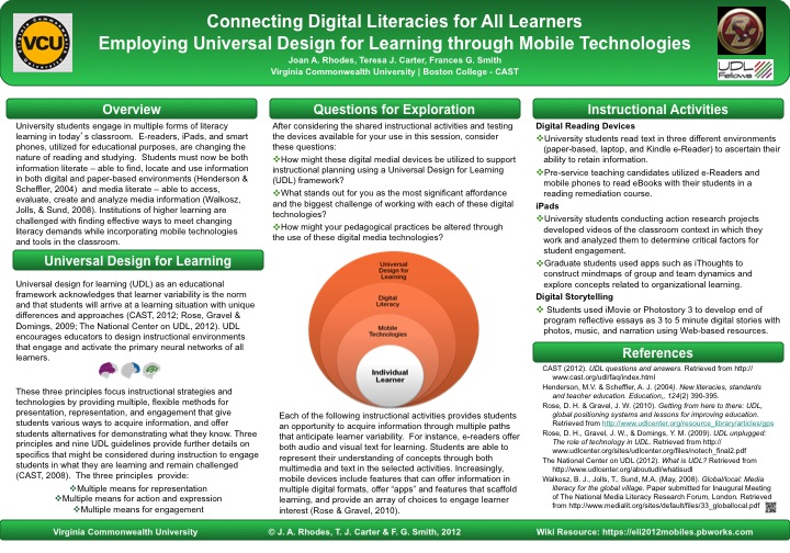 connecting digital literacies for all learners employing universal